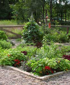 A kitchen garden! Not ours, but hopefully ours will look something like this.